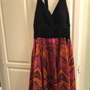 Dress with really beautiful colors-great fit